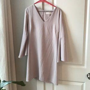 Amanda Uprichard Flare Sleeved Mini Dress